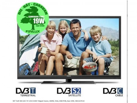 "Finlux 40"" Full-HD LED-TV 12V/230V"